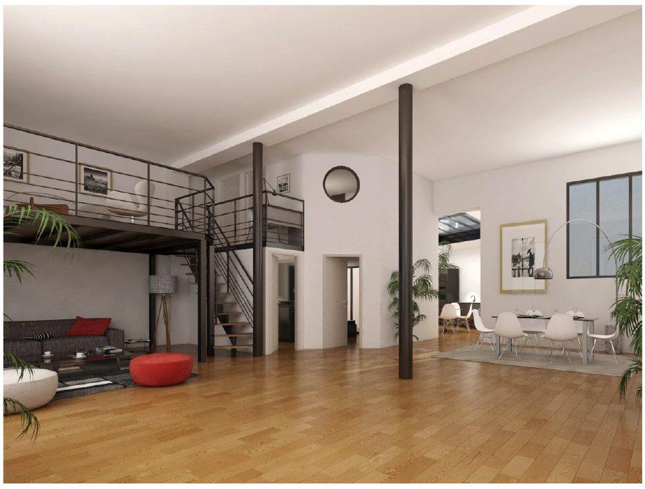 Beau plateau d'habitation de 115 m² à deux pas du Champs de Mars et de la Tour Eiffel (ref. 726)
