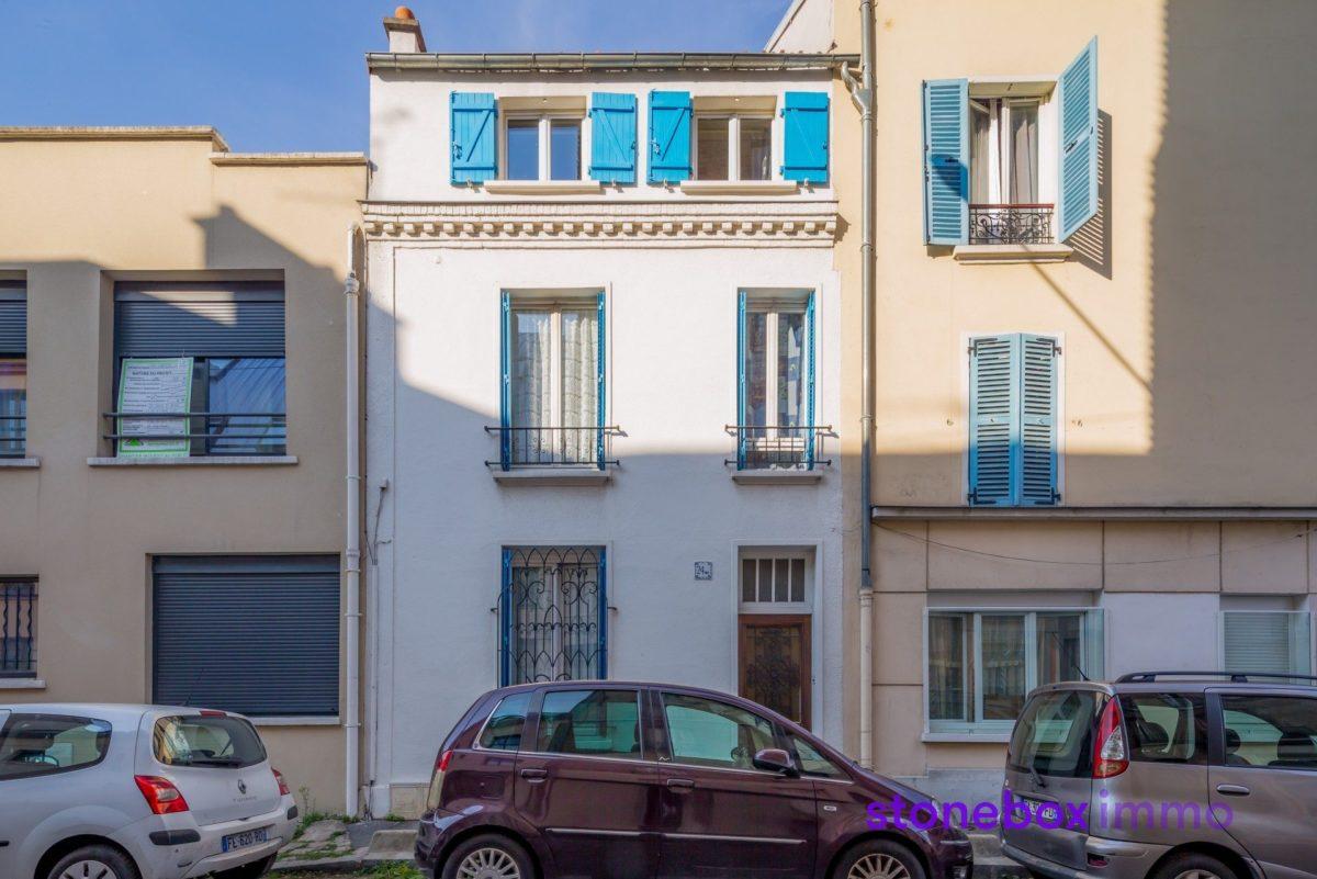 Maison sur 4 niveaux avec très beau Jardin (Bas Montreuil/ limite Vincennes) (ref. 792)
