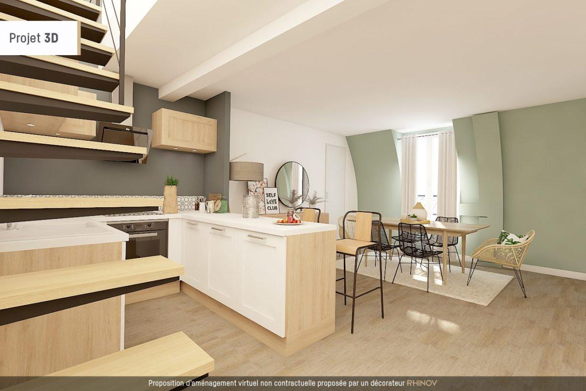 Duplex à rénover dernier étage en plein coeur du Marais (ref. 808)